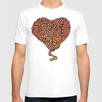 Brainheart Mens Fitted Tee White SMALL