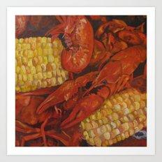 Crawfish and Corn Art Print