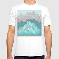 FLAT RELIEF Mens Fitted Tee White SMALL