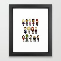 Doctors Companions and Friends V.2 Framed Art Print