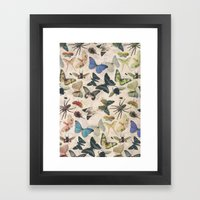 Insect Jungle Framed Art Print