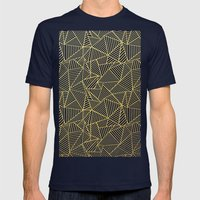 Ab 2 R Black and Gold Mens Fitted Tee Navy SMALL
