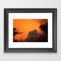Inferno In The Clouds Framed Art Print