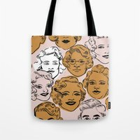 1950s in Pink & Gold Tote Bag
