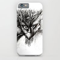 iPhone & iPod Case featuring Owl Girl Eyes by Isaac Isaac