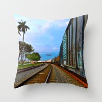 Planes, Trains, But No A… Throw Pillow