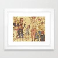 Teen Drama Framed Art Print