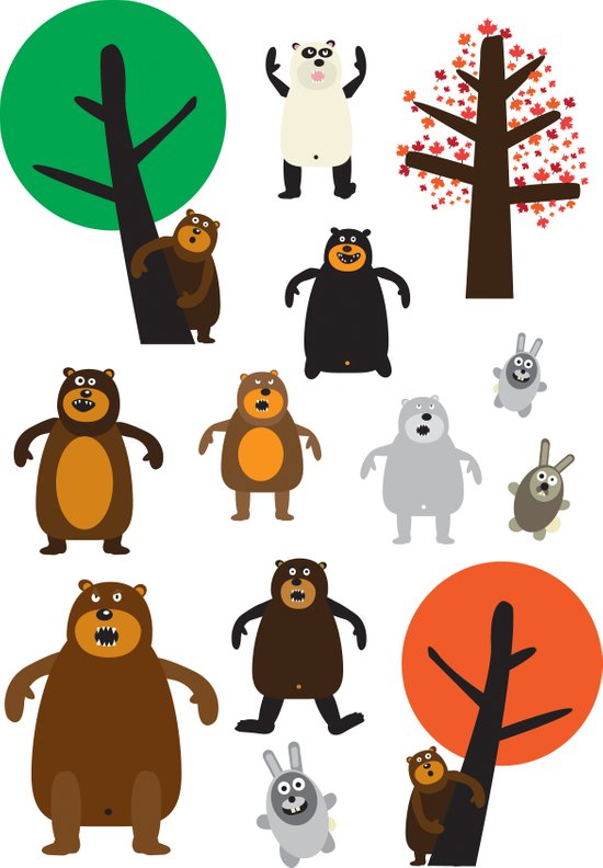 Bears, grizzly and other Art Print