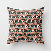 Sushi Panda Pattern Throw Pillow
