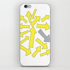 grey arrow on yellow iPhone & iPod Skin