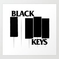 The Black Piano Keys Art Print