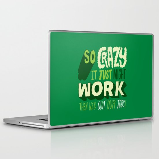 Quit Our Jobs Laptop & iPad Skin