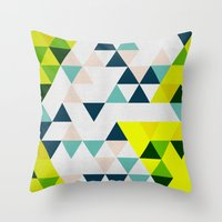 Triangles 1 Throw Pillow
