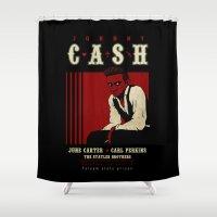 Cash Live At Folsom Pris… Shower Curtain