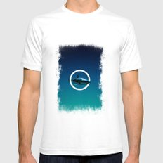 Shark. Mens Fitted Tee SMALL White