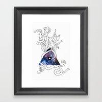 Space Snakes Framed Art Print