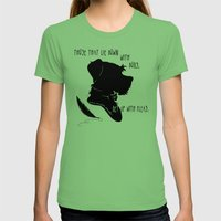 Those That Lie Down With… Womens Fitted Tee Grass SMALL