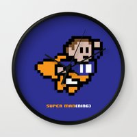 8-Bit: Super Man(ning) Wall Clock