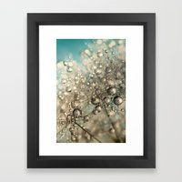 Metal Blue Dandy Sparkle Framed Art Print