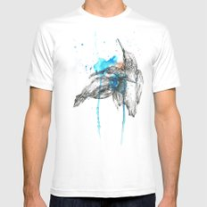 Kingfishers Mens Fitted Tee White SMALL