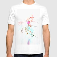 Unnatural Decay  SMALL White Mens Fitted Tee