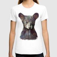 bear T-shirts featuring Little Bear by Amy Hamilton