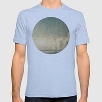 Where The Sky Meets The Sea  Mens Fitted Tee Athletic Blue SMALL