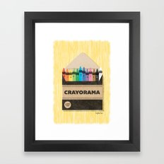 The White Crayon Framed Art Print