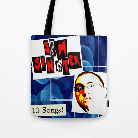 Sam Sinister - 13 Songs! (cover art) Tote Bag