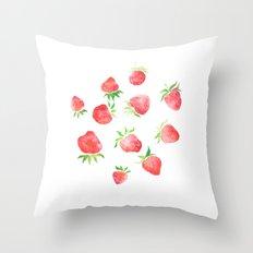 Strawberry Swing Throw Pillow