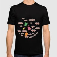 Spring Wind Mens Fitted Tee Black SMALL