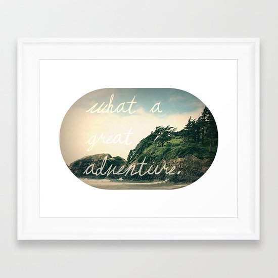 what a great adventure Framed Art Print
