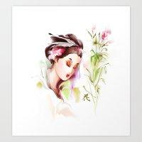 japanese Art Prints featuring Japanese by tatiana-teni