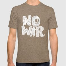 No War Mens Fitted Tee Tri-Coffee SMALL