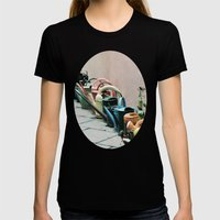 Watering Cans Womens Fitted Tee Black SMALL