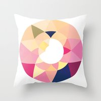 Datadoodle Donut Throw Pillow