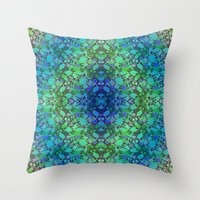 Lila's Flowers Repeat Bl… Throw Pillow