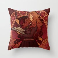The Brightest Witch Of H… Throw Pillow