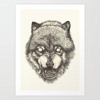 Day wolf Art Print