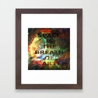 The Breath of Art Framed Art Print