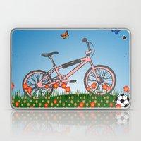 Pink bicycle Laptop & iPad Skin