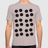 Copijn Black & White Dots Mens Fitted Tee Cinder SMALL