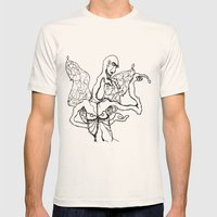 I'm A Little Butterfly Mens Fitted Tee Natural SMALL