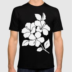 Hibiscus Animal Green Mens Fitted Tee Black SMALL