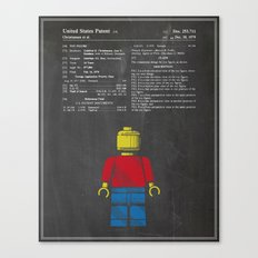 Lego Man Patent - Chalk Canvas Print