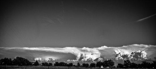 Back end of some tornado weather Art Print