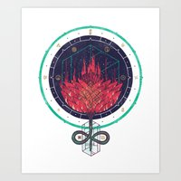 Fading Dahlia Art Print