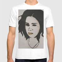 stephanie one Mens Fitted Tee White SMALL