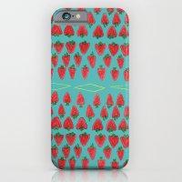 Field of Strawberries iPhone 6 Slim Case