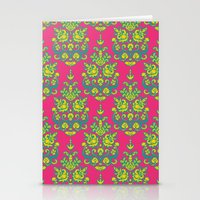 Kala damask ikat Stationery Cards